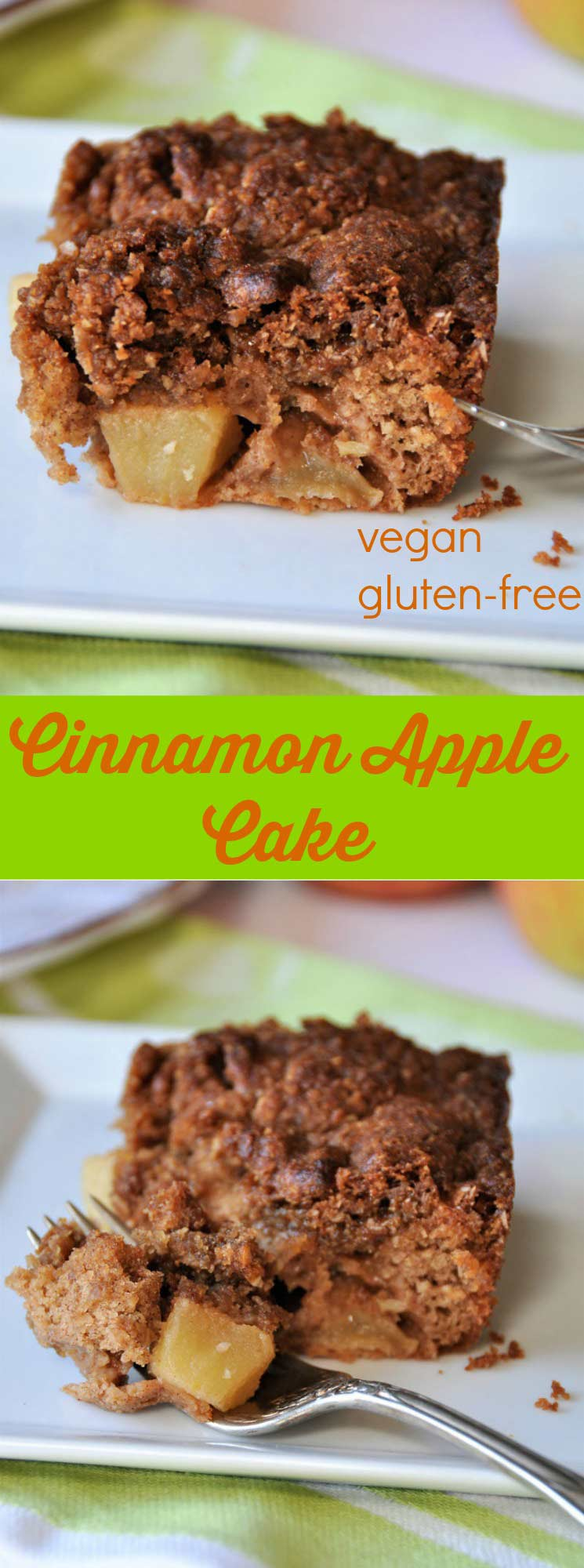 Vegan apple cinnamon crunch cake! The perfect refined sugar-free dessert!