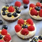 Lemon Berry Cashew Cheesecake Bites