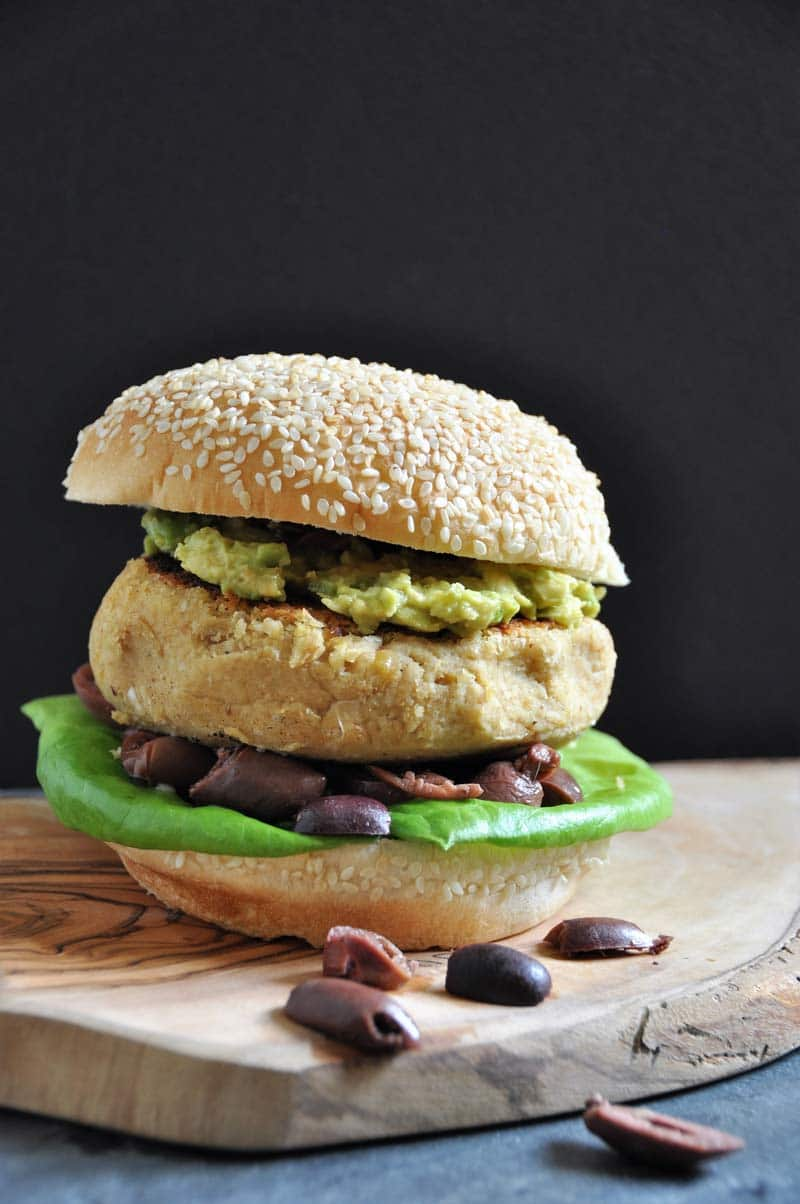 A thick and delicious burger made with classic hummus. Perfect for grilling.