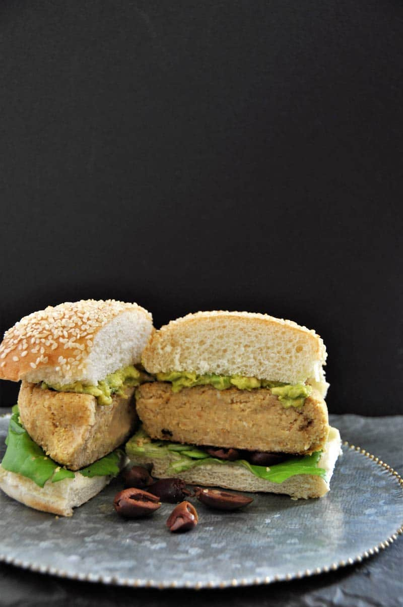 Mediterranean Hummus Burgers! All of the flavor of your favorite dip in a big and delicious burger!