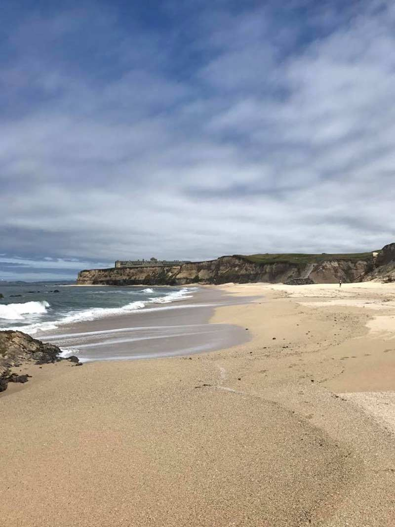The coast of Half Moon Bay, CA