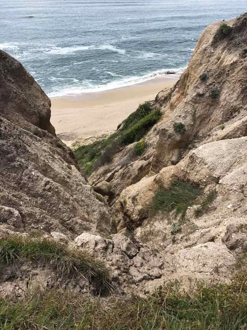 Giant cliff, Half Moon Bay, CA