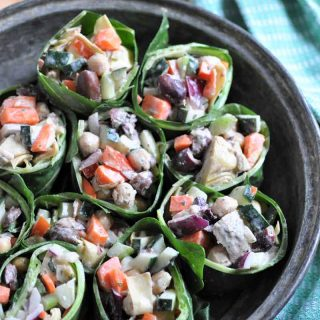 A veggie wrap with a tahini Mediterranean dressing.The perfect summer meal!