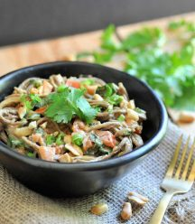 Delicious Thai noodles with peanut sauce from The China Study Family Cookbook