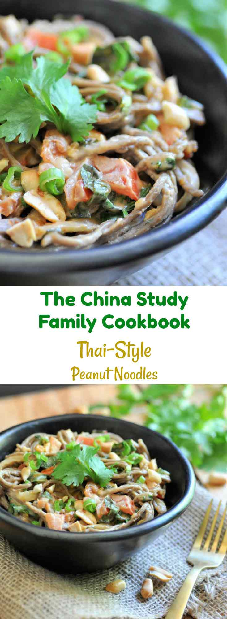 A healthy and delicious Thai-Style Peanut Noodles recipe from The China Study Family Cookbook!