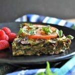 Vegan Veggie and Herb Frittata