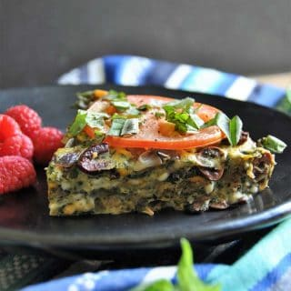 Vegan Veggie and Herb Frittata