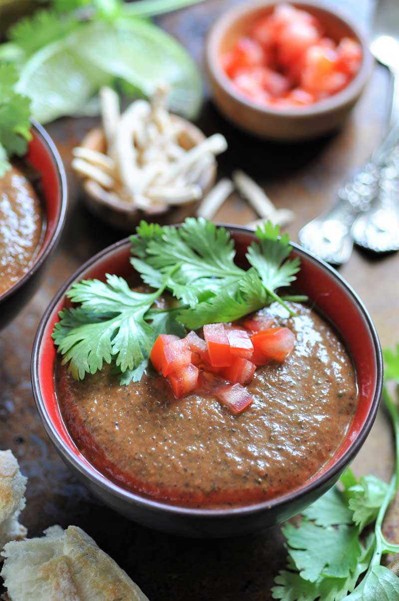 Homemade vegan Cuban black bean soup. An easy dinner recipe!