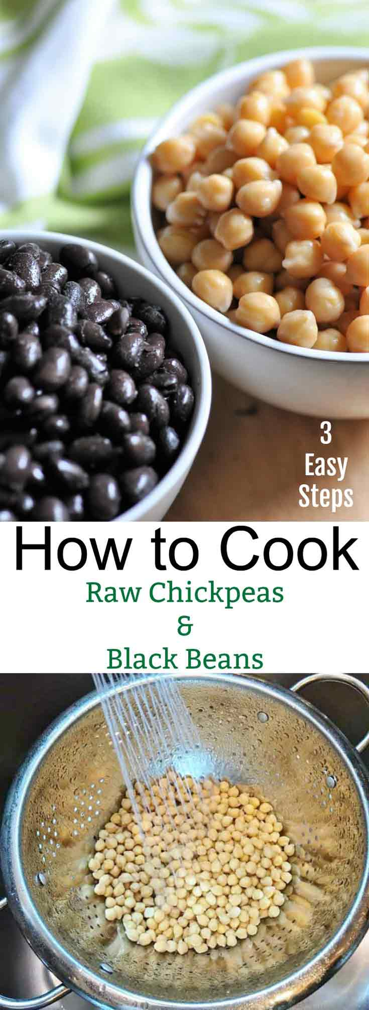 Save money and make your own chickpeas & black beans in 3 easy steps!