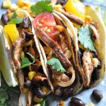 Spicy Black Bean & Shitake Mushroom Street Tacos