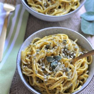 Spaghetti with Pumpkin Sage Cream Sauce