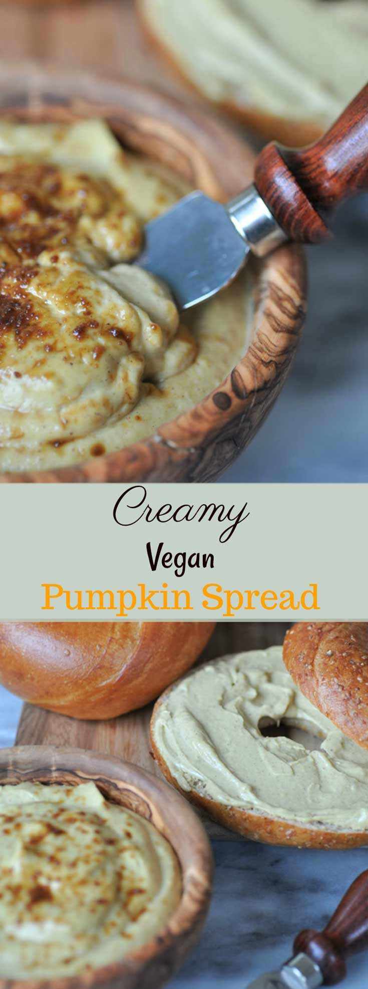 Creamy, dairy-free, vegan pumpkin spread. It's creamy and rich and so delicious. Perfect for breakfast.