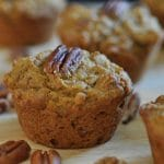 The BEST Vegan Pumpkin Pecan Muffins