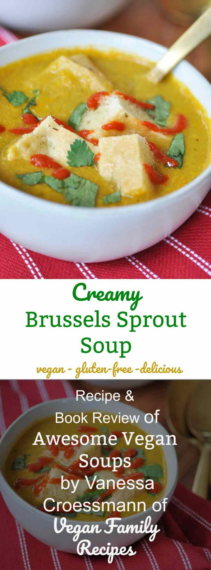 Creamy Brussels Sprout Soup for Pinterest.