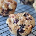 Vegan Cranberry Blueberry Muffins