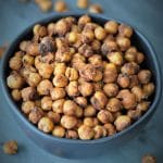 Spicy, Crunchy Roasted Chickpea Snacks