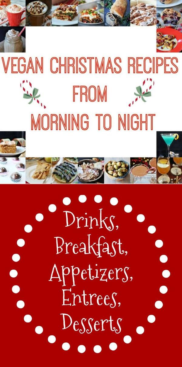 Vegan Christmas Recipes collage for Pinterest