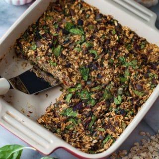 Savory Vegan Baked Oatmeal