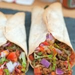 Greek Vegan Burritos from Vegan Burgers & Burritos Cookbook!