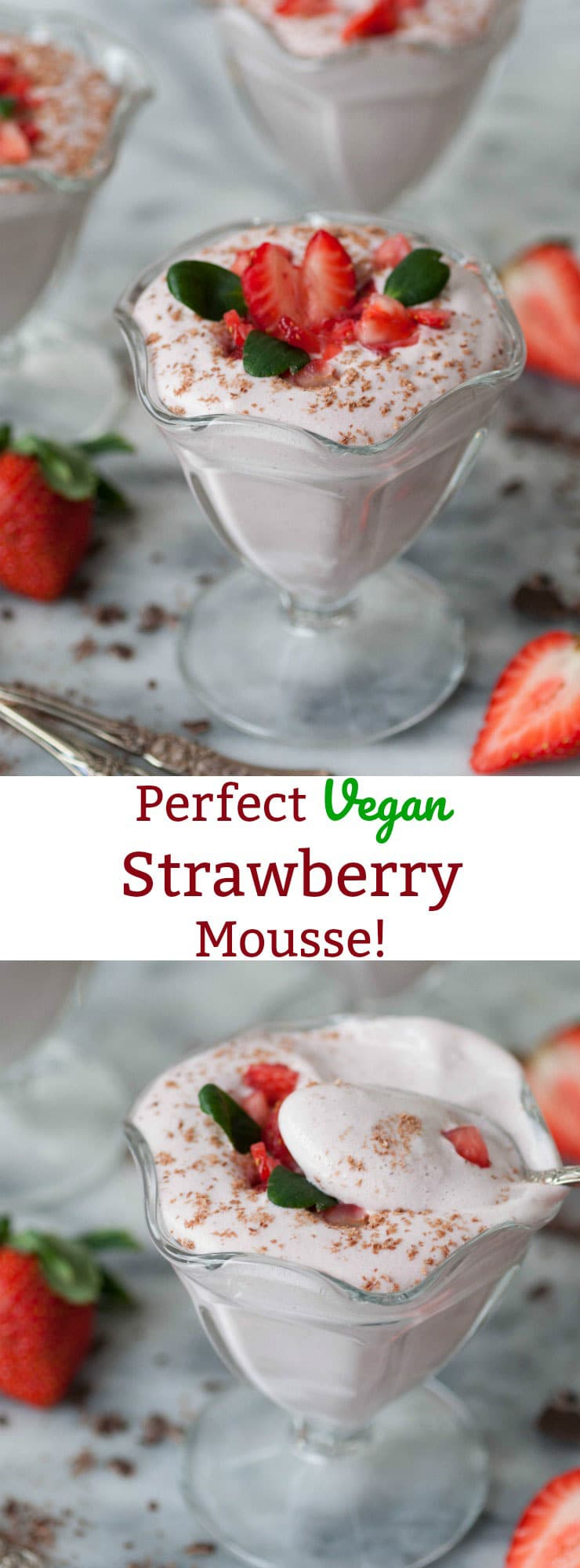 Perfect vegan strawberry mousse veganosity fluffy and light raw vegan strawberry mousse made with aquafaba its a refined sugar sisterspd