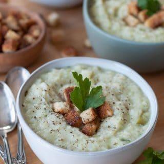 Vegan Colcannon (Potato & Cabbage) Soup