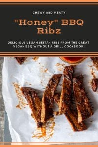 BBQ Vegan Ribs from the Veganosity cookbook Great Vegan BBQ without a Grill with homemade BBQ sauce! #seitan #veganribs #bbq