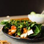 Curry Quinoa, Mango and Tofu Wraps