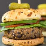 Vegan Spicy Black Bean Quinoa Burger
