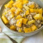 Healthy Pineapple Coconut Mango Overnight Oats