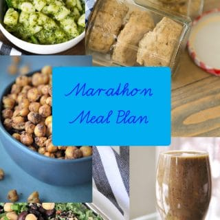 Week 1 Marathon Meal Plan