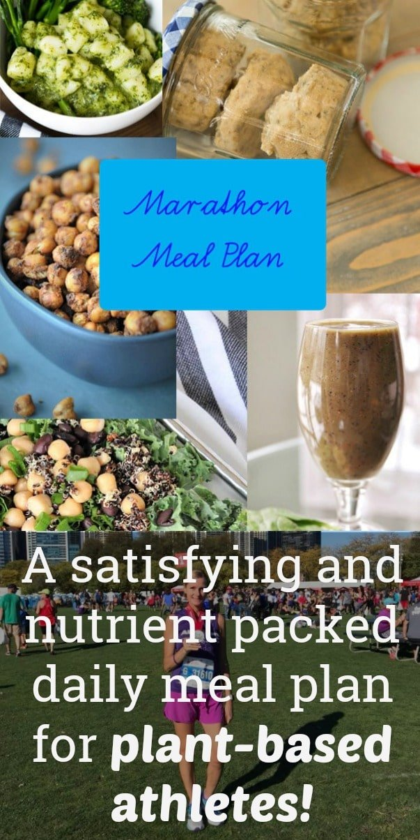 A healthy and delicious daily meal plan for vegan athletes! #plant-based #marathontraining #mealplan