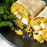 Curry Quinoa, Mango and Tofu Wraps