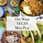 Vegan Weekly Meal Plan in Under One Hour