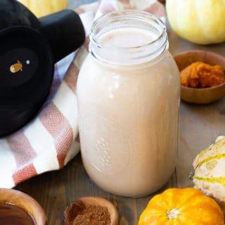 Homemade Pumpkin Spice Cashew Milk