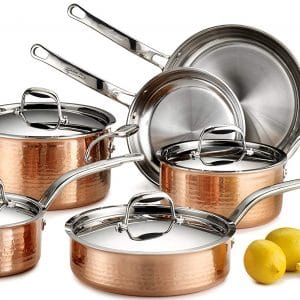 copper cookware set