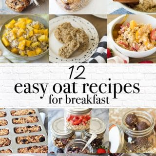 A Pinterest pin for 12 easy oatmeal breakfast recipes.