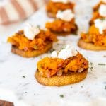 Savory Sweet Potato Bruschetta