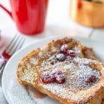 Vegan Eggnog French Toast & Cranberry Maple Syrup