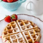 Vegan Strawberry Pecan Waffles