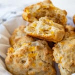 Vegan Cheddar Drop Biscuits
