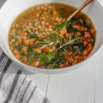Easy Vegan Lentil and Carrot Soup